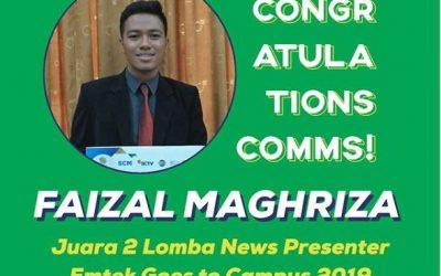 Faizal Maghriza Juara 2 Lomba News Presenter Emtek Goes To Campus 2019 Semarang